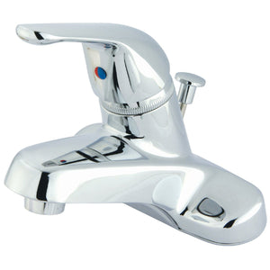 "Chatham Single Handle 4"" Centerset 3-Hole Bathroom Faucet w/Metal Lever - Includes Pop-Up Drain, 1.2 gpm"