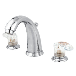 "Victorian Two Handle 8-16"" Widespread 3-Hole Bathroom Bathroom Faucet w/Crystal Knob - Includes Pop-Up Drain, 1.2 gpm"