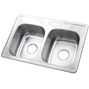 Studio Drop-in Double Bowl Kitchen Sink