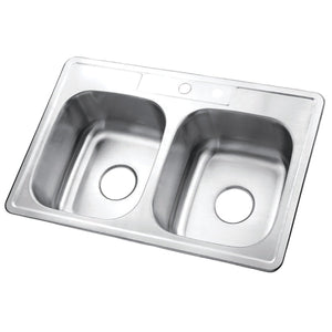 "Studio 33""x22""x8"" Self-Rimming Stainless Steel Kitchen Sink"