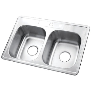 "Studio 33""x22""x9"" Self-Rimming Stainless Steel Kitchen Sink"