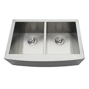 Uptowne Drop-In Stainless Steel Double Bowl Farmhouse Kitchen Sink