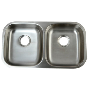 GKUD32194 Undermount Double Bowl Kitchen Sink, Brushed