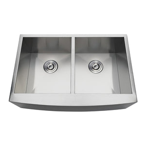 Uptowne Undermount Stainless Steel Double Farmhouse Kitchen Sink