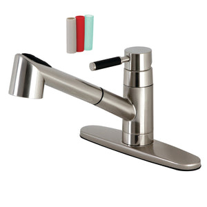 Kaiser Single-Handle 1-or-3 Hole Deck Mount Pull-Out Sprayer Kitchen Faucet