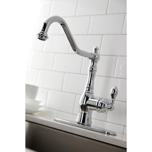 American Classic Single-Handle 2-or-4 Hole Deck Mount Kitchen Faucet with Brass Sprayer
