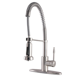 Nustudio Single-Handle 1-or-3 Hole Deck Mount Pre-Rinse Kitchen Faucet