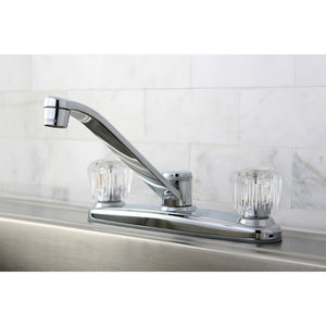 "Americana Two Handle 8"" Centerset 3-Hole Kitchen Faucet w/Acrylic Knob, 1.8 gpm"