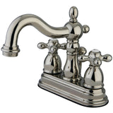 "Heritage Two Handle 4"" Centerset 3-Hole Bathroom Faucet w/Metal Cross - Includes Pop-Up Drain, 1.2 gpm"