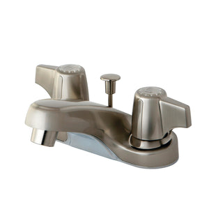 "Americana Two Handle 4"" Centerset 3-Hole Bathroom Faucet w/Metal Canopy Handle - Includes Pop-Up Drain, 1.2 gpm"