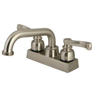 "Classic Two Handle 4"" Centerset 3-Hole Utlity Laundry Faucet w/Metal Lever, 4.0 gpm"
