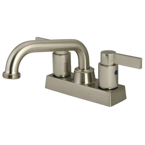 "NuvoFusion Two Handle 4"" Centerset 3-Hole Utlity Laundry Faucet w/Metal Lever, 4.0 gpm"