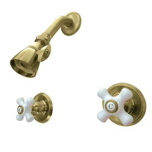 Victorian Two-Handle 3-Hole Wall Mount Shower Faucet