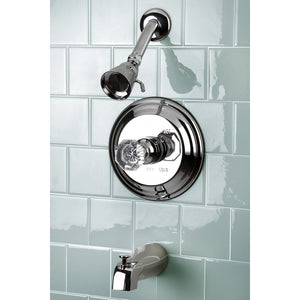 Celebrity Single Handle 3-Hole Tub and Shower Faucet w/Crystal Knob, 1.8 gpm & 7 gpm