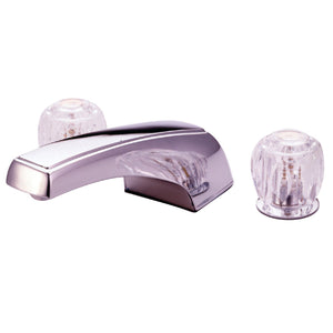"Two Handle Two Handle 8-16"" Widespread 3-Hole Deck-Mount Roman Tub Filler Faucet w/Acrylic Knob, 7.0 gpm"