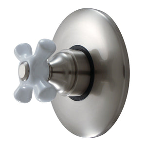 Classic Single Handle Volume Control w/Metal Cross - Rough-In Valve Included