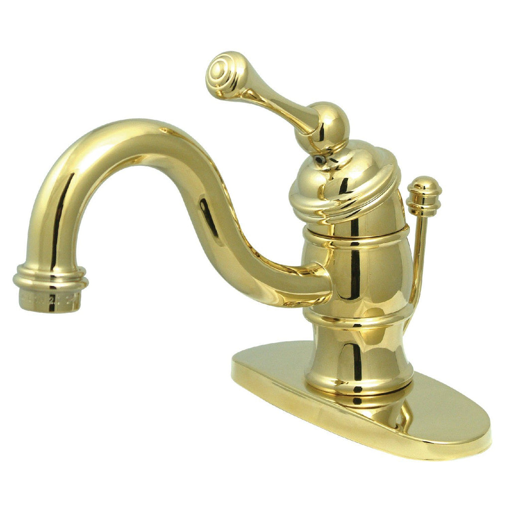 Victorian Single Handle 1 or 3-Hole Bathroom Faucet w/Metal Lever and Optional Deck Plate - Includes Pop-Up Drain, 1.2 gpm