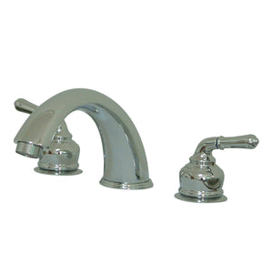 "Magellan Two Handle 8-16"" Widespread 3-Hole Deck-Mount Roman Tub Filler Faucet w/Metal lever, 7.0 gpm"
