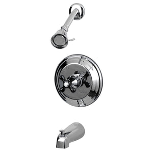 Duchess Single Handle 3-Hole Tub and Shower Faucet w/Metal Cross, 1.8 gpm & 7 gpm