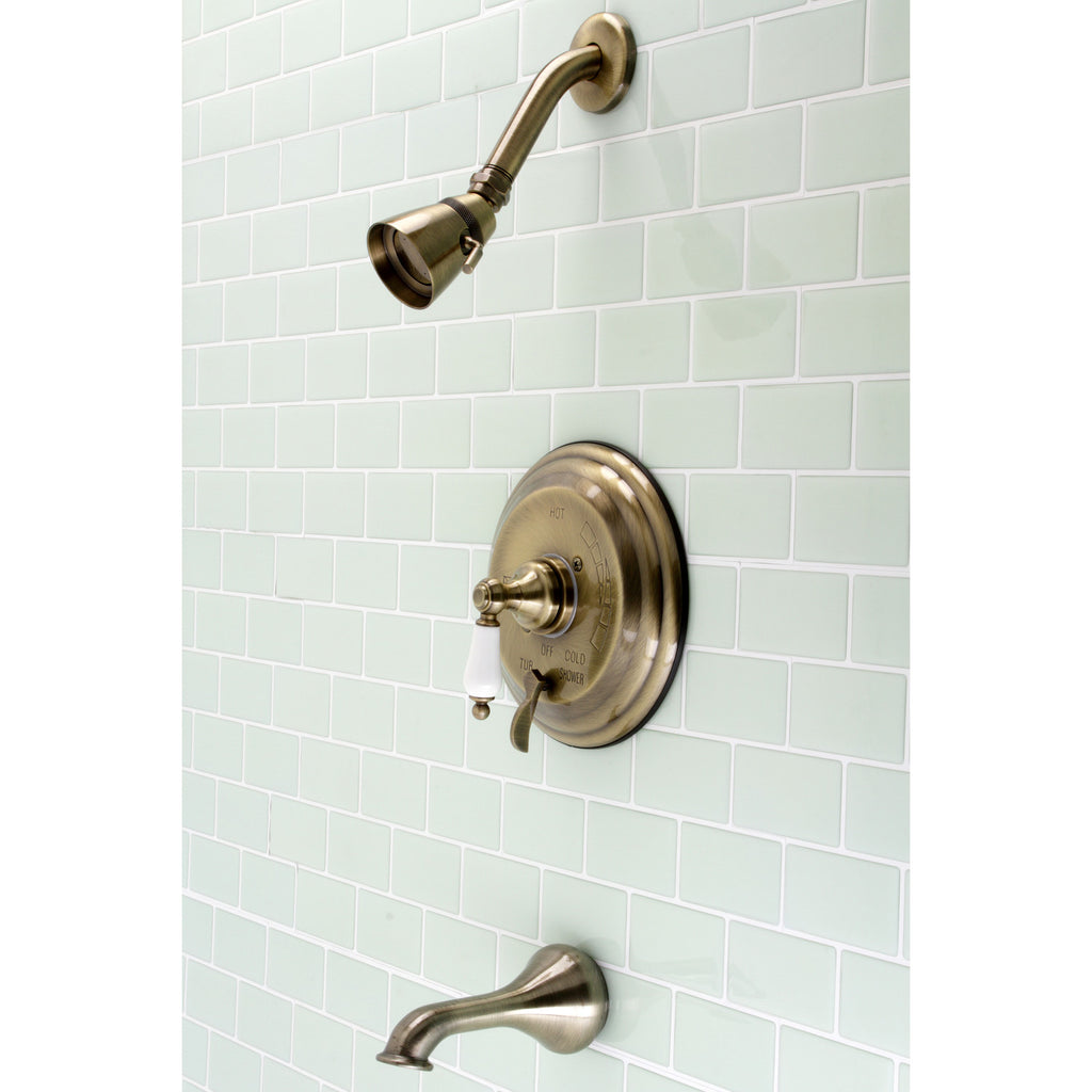Restoration Single-Handle 3-Hole Wall Mount Tub and Shower Faucet