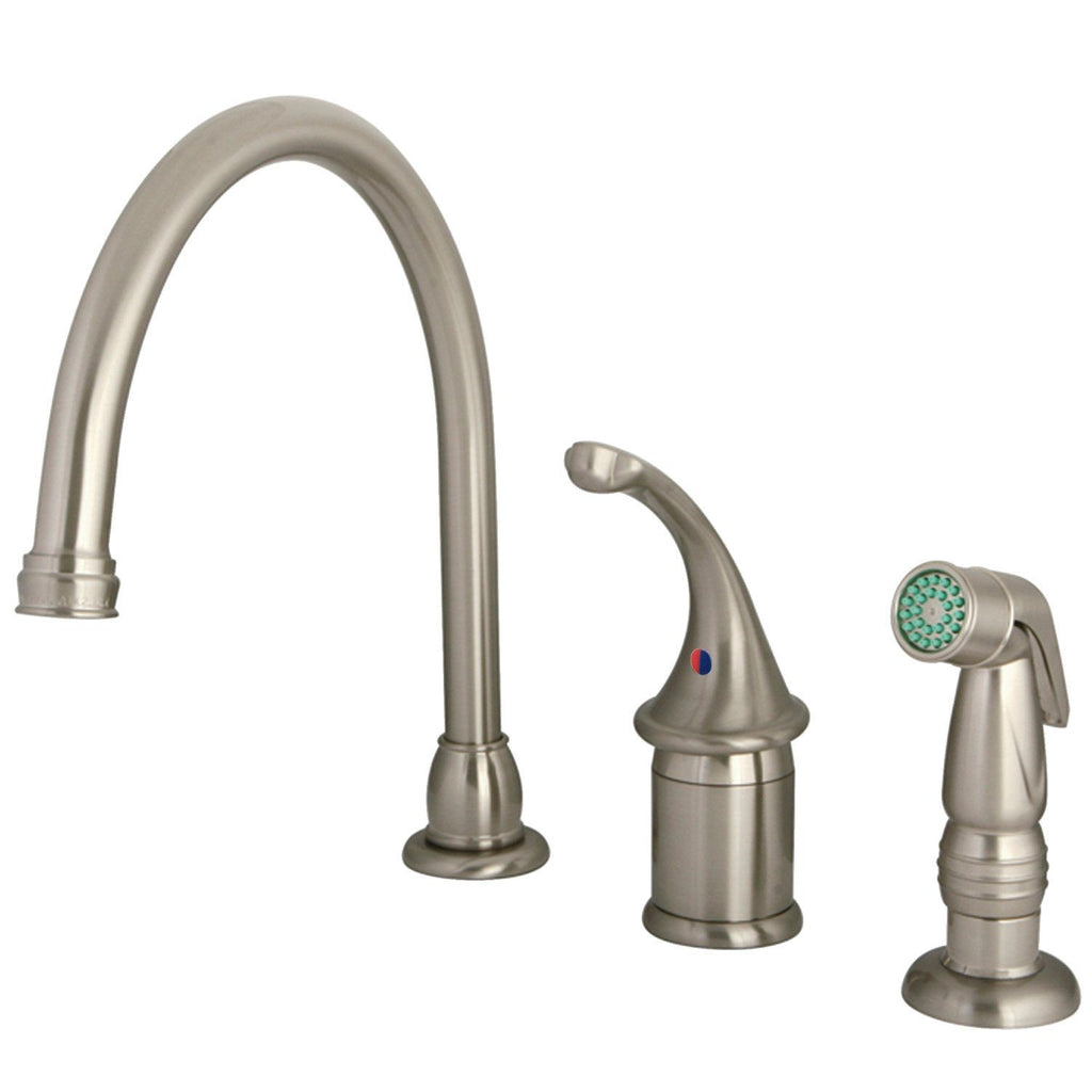 Widespread Kitchen Faucet, Brushed Nickel