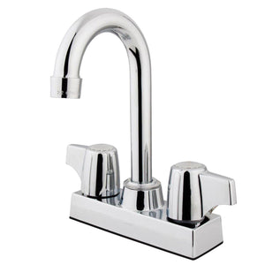"Vista Two Handle 4""Centerset 3-Hole Bar Prep Faucet w/Metal Canopy Handle, 1.5 gpm"