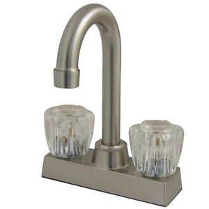 "Vista Two Handle 4"" Centerset 3-Hole Bar Prep Faucet w/Acrylic Knob, 1.5 gpm"