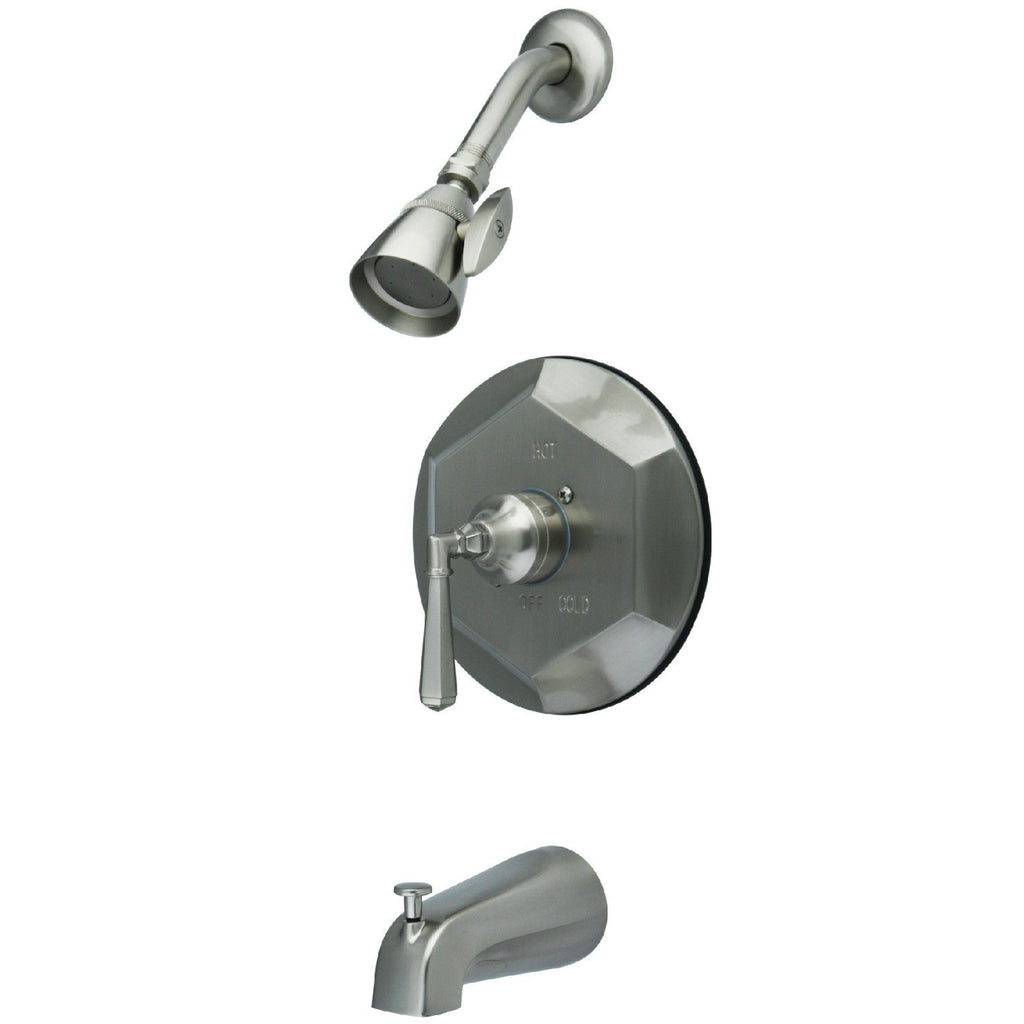Metropolitan Single Handle 3-Hole Tub and Shower Faucet w/Metal Lever, 1.8 gpm & 7 gpm