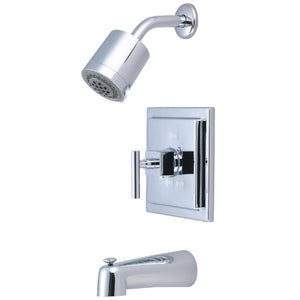 Claremont Single Handle 3-Hole Tub and Shower Faucet w/Metal Lever, 1.8 gpm & 7 gpm
