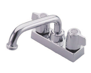 "Classic Two Handle 4"" Centerset 3-Hole Utility Laundry Faucet w/Metal Canopy Handle, 4.0 gpm"