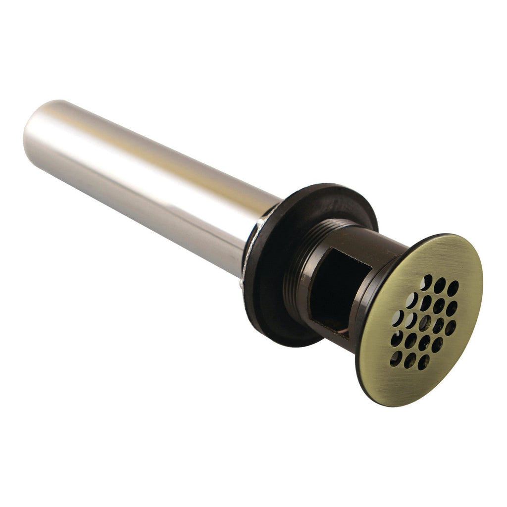 Complement 19-Hole Grid Drain with Overflow, 17 Gauge