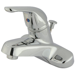 "Chatham Single Handle 4"" Centerset 3-Hole Bathroom Faucet w/Metal Loop - Includes Pop-Up Drain, 1.2 gpm"