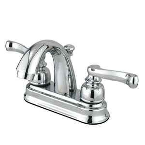 "Vintage Two-Handle 3-Hole Deck Mount 4"" Centerset Bathroom Faucet with Plastic Pop-Up"