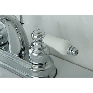 "Restoration Two-Handle 3-Hole Deck Mount 4"" Centerset Bathroom Faucet"