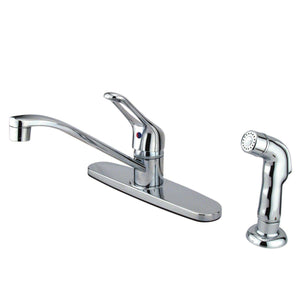 "Wyndham Two Handle 8"" Centerset 3-Hole Kitchen Faucet w/Metal Loop, 1.8 gpm"