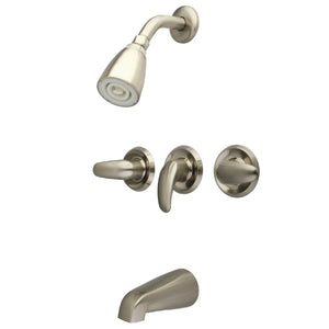 Legacy Three Handle 5-Hole Tub and Shower Faucet w/Metal Lever, 1.8 gpm & 7 gpm