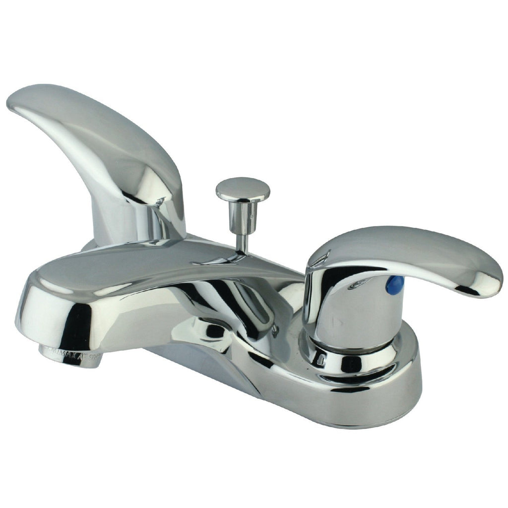 "Legacy Two Handle 4"" Centerset 3-Hole Bathroom Faucet w/Metal Lever - Includes Pop-Up Drain, 1.2 gpm"