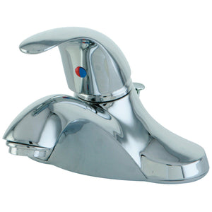"Legacy Single Handle 4"" Centerset 3-Hole Bathroom Faucet w/Metal Lever - Includes Pop-Up Drain, 1.2 gpm"