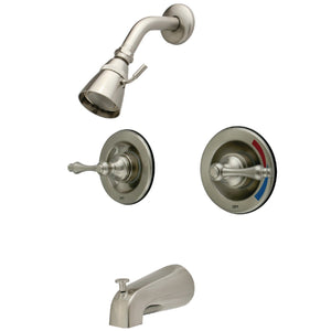 Vintage Two-Handle 4-Hole Wall Mount Tub and Shower Faucet