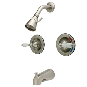 Two-Handle 4-Hole Wall Mount Tub and Shower Faucet