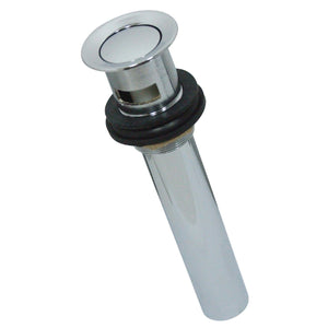 Made to Match Push Pop-Up Drain with Overflow, 22 Gauge
