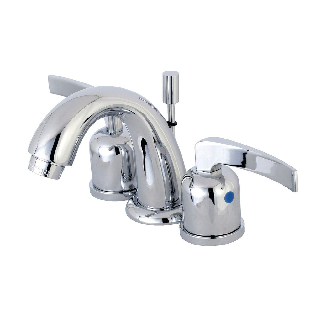 "Centurion Two Handle 8-16"" Widespread 3-Hole Bathroom Faucet w/Metal Lever - Includes Pop-Up Drain, 1.2 gpm"