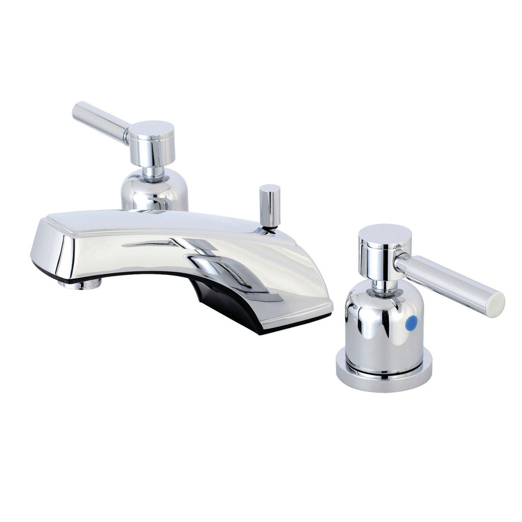 "Concord Two Handle 8-16"" Widespread 3-Hole Bathroom Faucet w/Metal Lever - Includes Pop-Up Drain, 1.2 gpm"