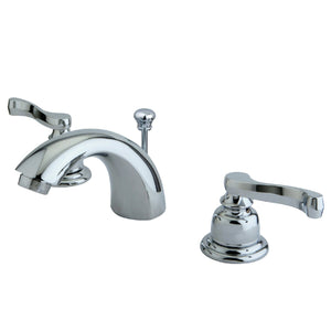 "Royale Two Handle 4"" Mini-Widespread 3-Hole Bathroom Faucet w/Metal Lever - Includes Pop-Up Drain, 1.2 gpm"