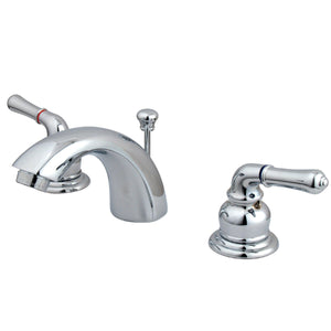 "Magellan Two Handle 4"" Mini-Widespread 3-Hole Bathroom Faucet w/Metal Lever - Includes Pop-Up Drain, 1.2 gpm"