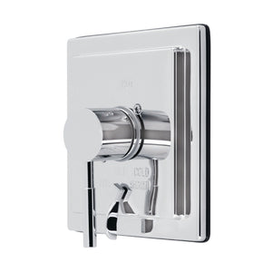 Single-Handle 1-Hole Wall Mount Tub and Shower Faucet Valve and Trim Only