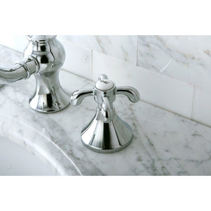 "French Country Two Handle 8-16"" Widespread 3-Hole Bathroom Faucet w/Metal Cross - Includes Pop-Up Drain, 1.2 gpm"