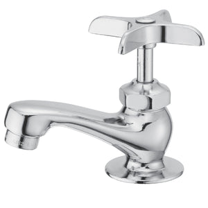 Classic Two Handle Basin Tap Faucet Set w/Metal Cross, 1.2 gpm
