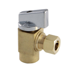 Columbia 3/8-Inch IPS x 3/8-Inch OD Compression Quarter-Turn Angle Stop Valve