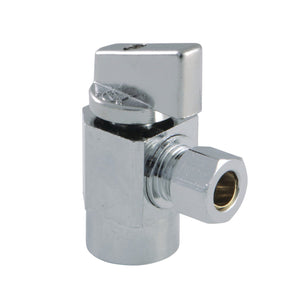 Columbia 1/2-Inch FIP x 3/8-Inch OD Compression Quarter-Turn Angle Stop Valve